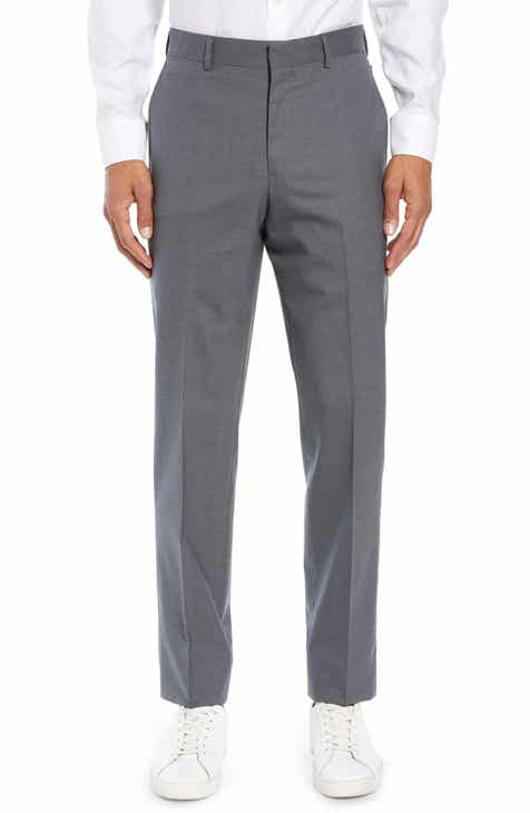 b3e4107f0d Nordstrom Men's Shop Flat Front Stretch Wool Trousers