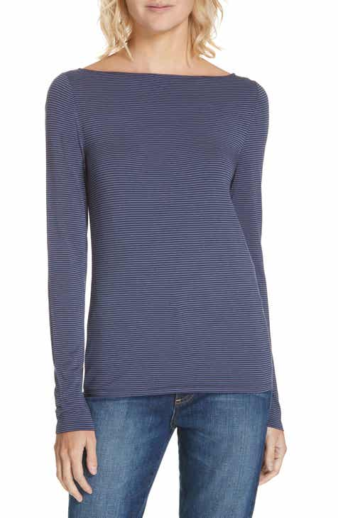 Nordstrom Signature Stripe Bateau Neck Long Sleeve Tee 891b01419b44a