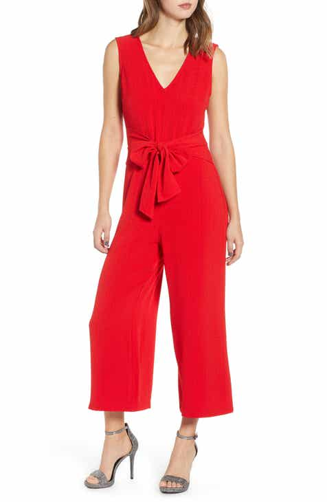 c6609cf47527 ASTR the Label Tie Waist Crop Jumpsuit