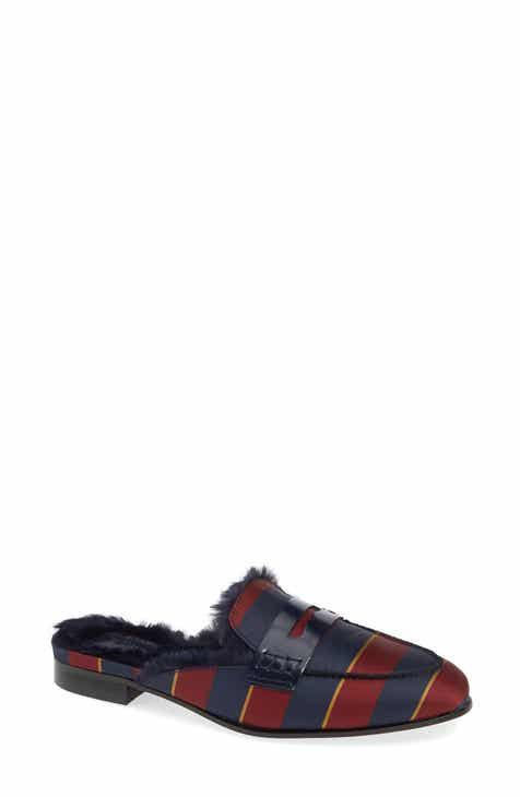 bdfd90e1692 J.Crew Academy Loafer Mule with Faux Fur Lining