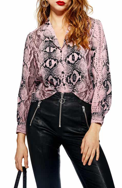 ba1fae311f Topshop Jessica Print Shirt (Regular   Petite)