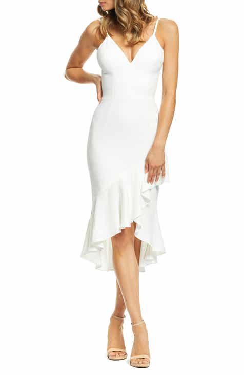 2991ff8eb79 Dress the Population Wendy High Low Ruffle Cocktail Dress