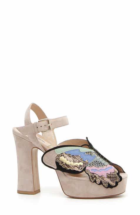 45869aae9e4 VALENTINO GARAVANI Butterfly Genuine Snakeskin Platform Sandal