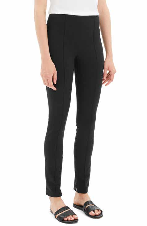 Theory Skinny Seamed Stretch Cotton Leggings by THEORY