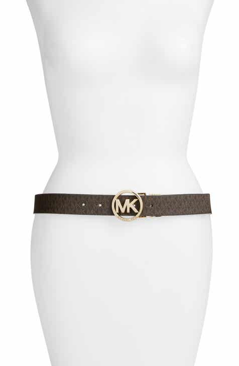 f43a03fa6a8 MICHAEL Michael Kors Logo Reversible Leather Belt