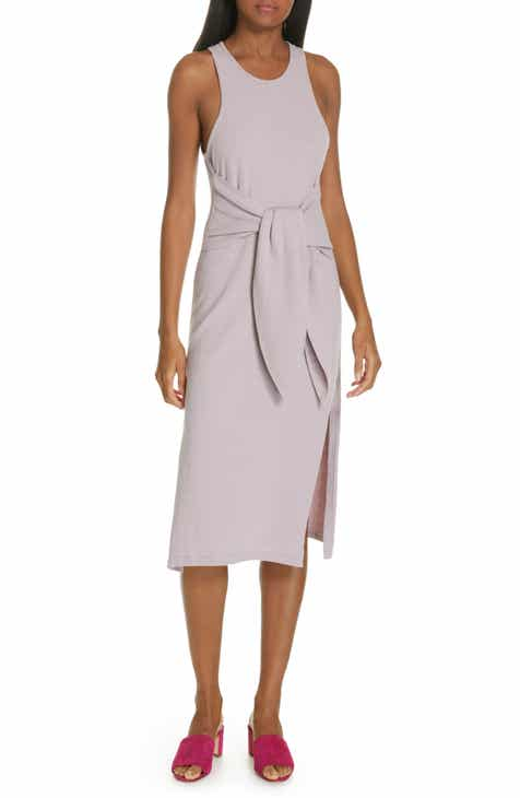 MOON RIVER Sleeveless Button Front Midi Sundress by MOON RIVER