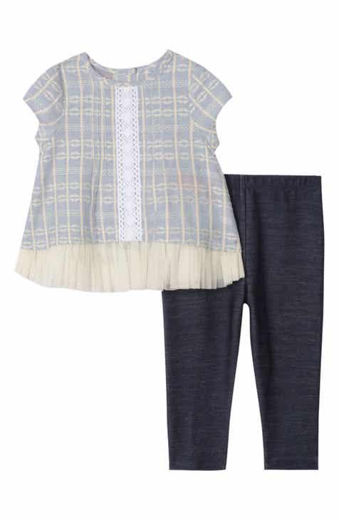 Pastourelle by Pippa & Julie Print Tunic & Leggings Set (Baby)