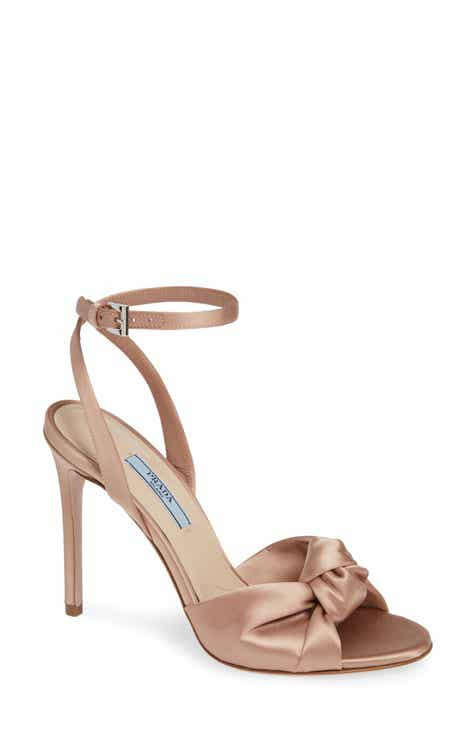 f1c4bb98cea Prada Knotted Silk Sandal (Women)