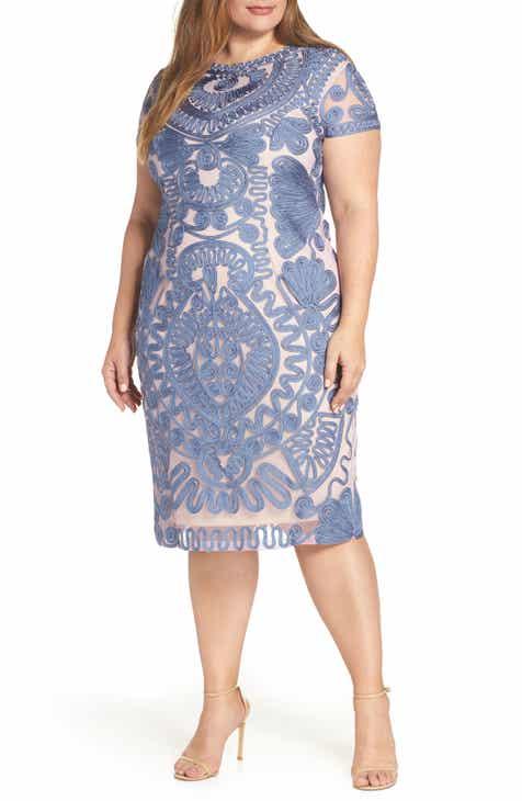 9040715efe14f JS Collections Mesh Soutache Dress (Plus Size)