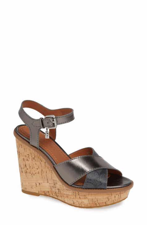4a334d7c114 COACH Logo Embossed Wedge Sandal (Women)