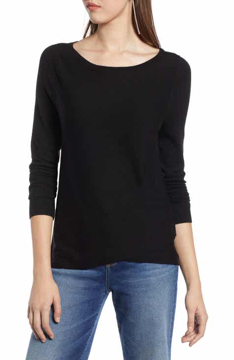 Halogen® Crossover Front Knit Sweater (Regular   Petite) a4273a4b5