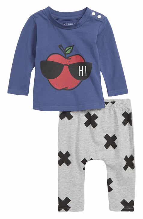 TINY TRIBE Hi Apple Tee & Leggings Set (Baby)