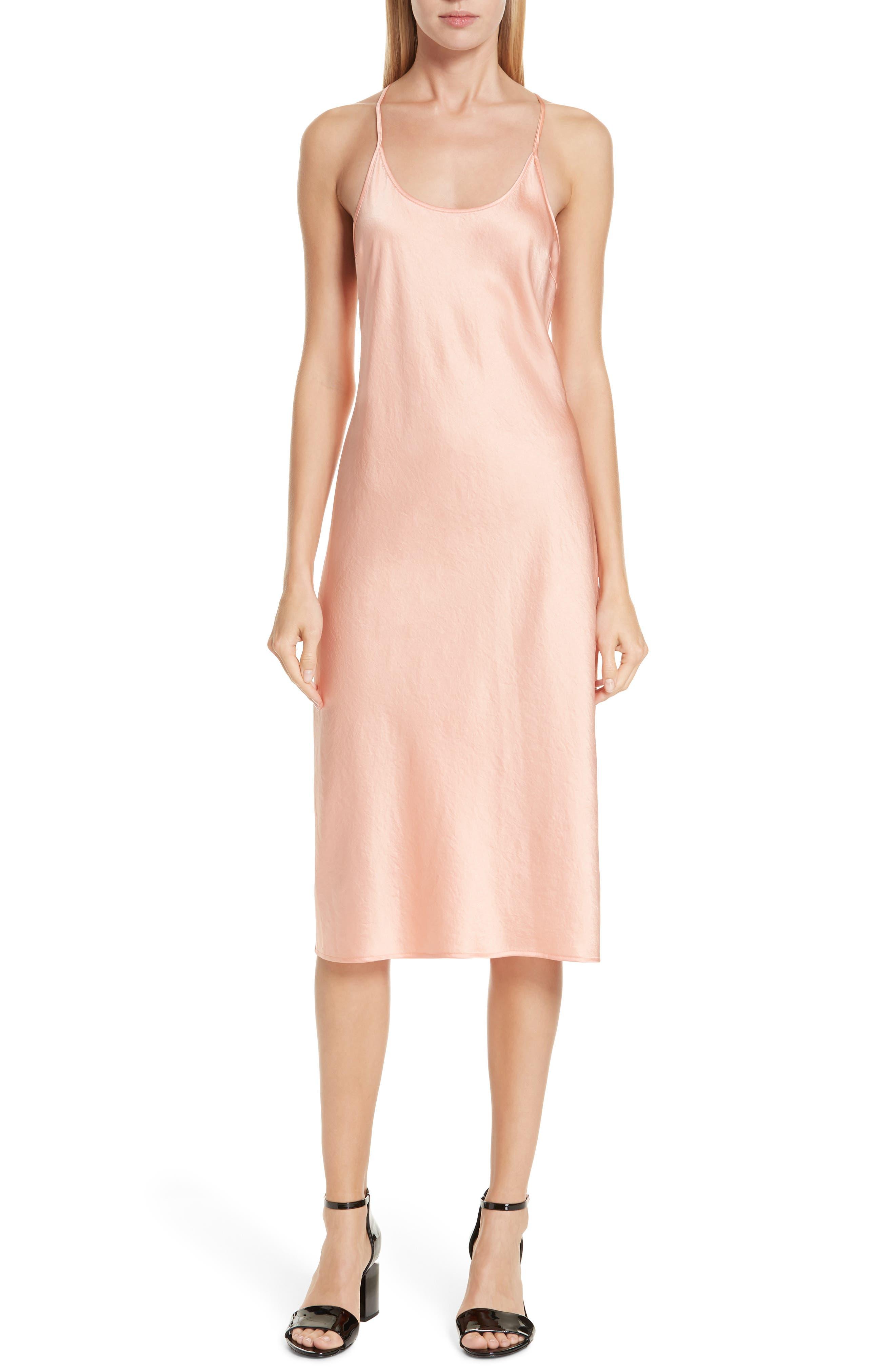 Satin Long Slip Dress