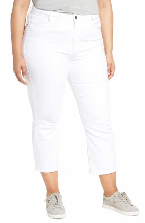 bd2969ea685 Sanctuary Modern High Rise Straight Leg Crop Jeans (Angeleno White) (Plus  Size)