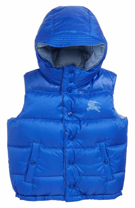 Burberry Skye Waterproof Hooded Down Vest (Toddler Boys 9ea27e3e4