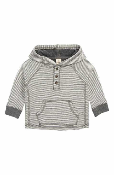 Tucker + Tate Double Knit Hooded Henley (Baby) 37efc712b38