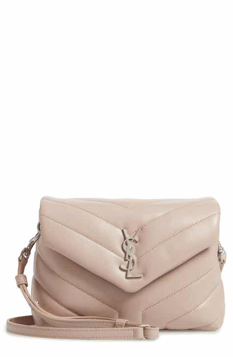9bd19e477e1 Saint Laurent Toy Loulou Calfskin Leather Crossbody Bag