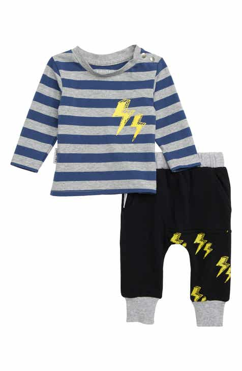 TINY TRIBE Lightning T-Shirt & Sweatpants Set (Baby)