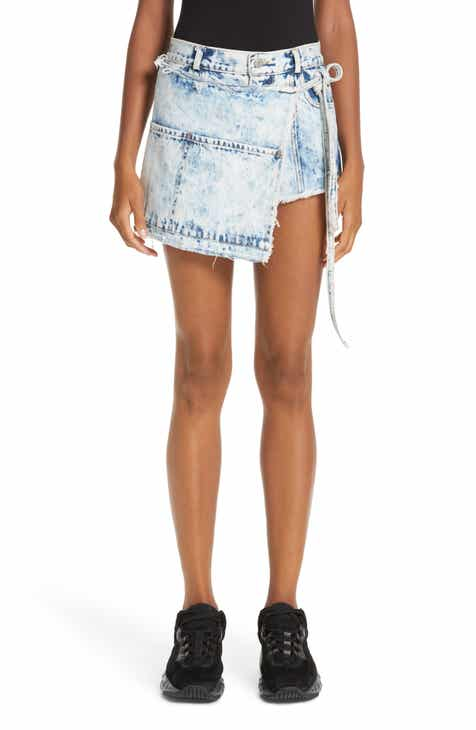 Sandy Liang Perry Denim Skort (Acid Wash) by SANDY LIANG