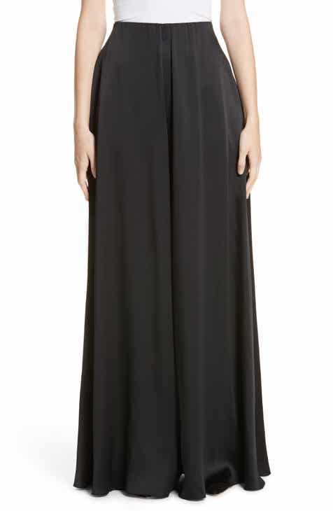Rosetta Getty Crepe Back Satin Palazzo Pants by Rosetta Getty