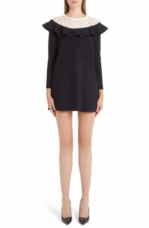 Valentino Lace & Ruffle Knit Dress by VALENTINO
