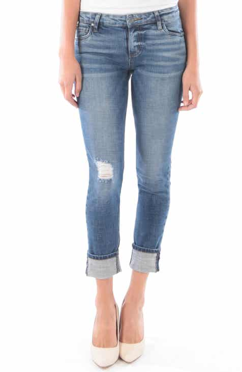 3e44e88f7cc75 KUT from the Kloth Catherine Wide Cuff Boyfriend Jeans (Palpable)