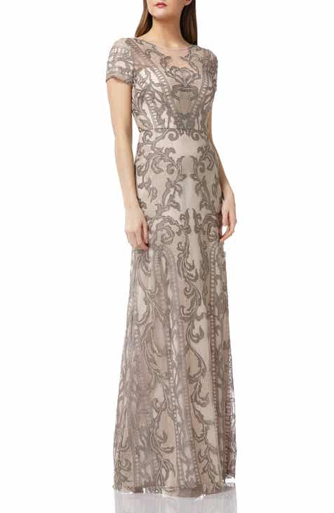 54b600c9c48 JS Collections Embroidered A-Line Gown