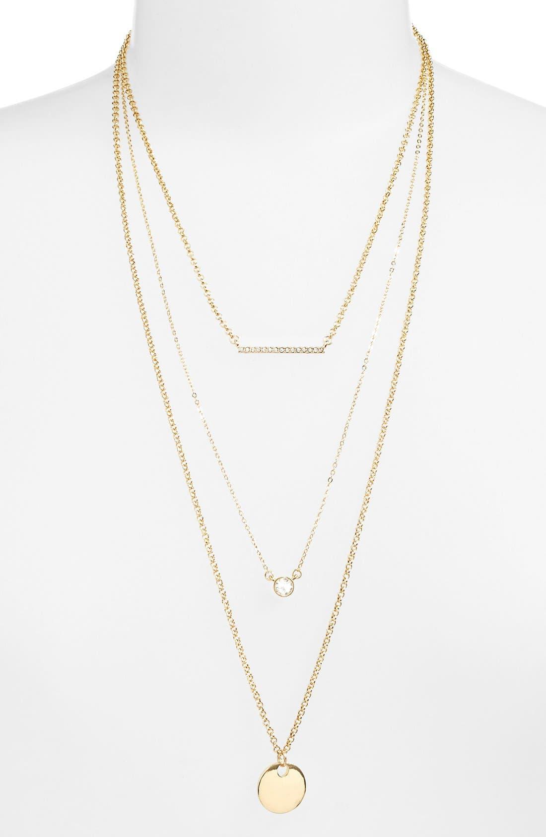 Alternate Image 2  - Jules Smith Triple Strand Charm Necklace