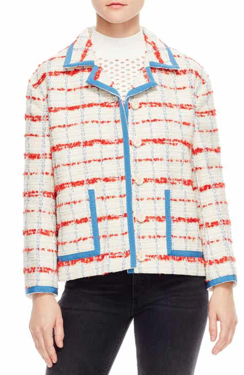 sandro Idaline Tweed Crop Jacket by SANDRO