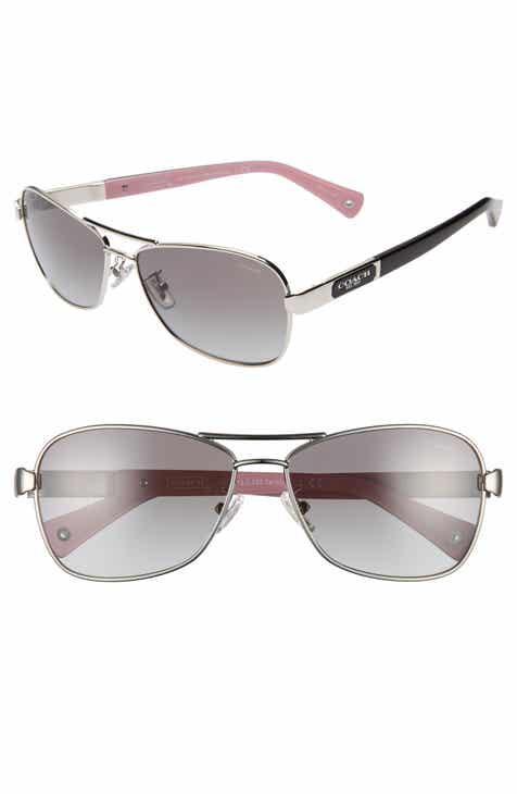 a8d44471bb9 COACH Caroline 56mm Gradient Aviator Sunglasses