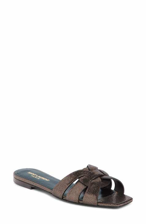 15772b073bf Saint Laurent Tribute Nu Pieds Slide Sandal (Women)