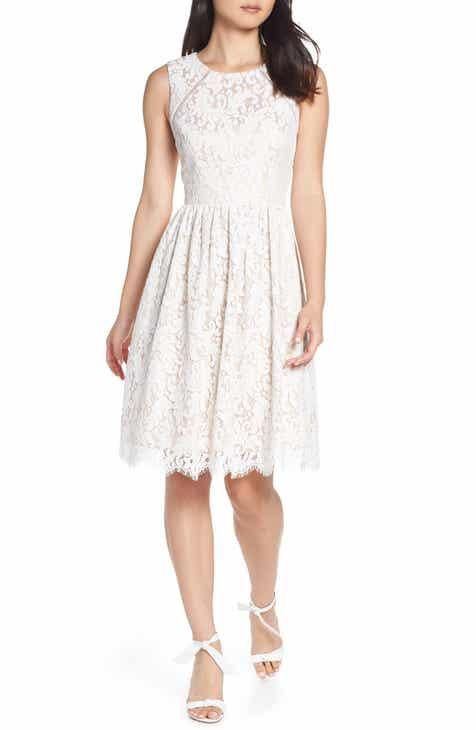 cfcfc935e62a Eliza J Lace Fit   Flare Dress