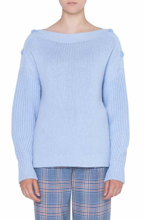Akris punto Button Shoulder Sweater by AKRIS PUNTO
