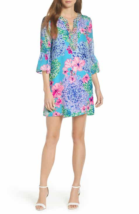 Lilly Pulitzer® Elenora Floral Embellished Silk Dress