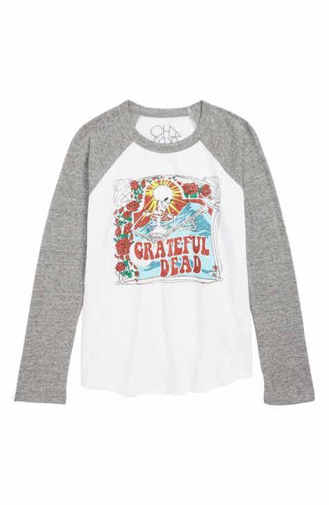 3be4f979e32 Chaser Grateful Dead Skeleton Guitar T-Shirt (Little Boys   Big Boys)