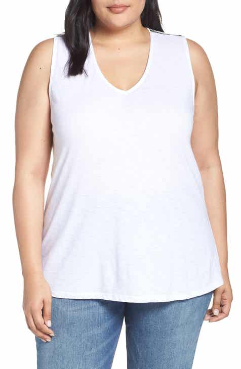 02dd568032 Malibu Embroidered Racerback Tank Top (Plus Size) (Nordstrom Exclusive)