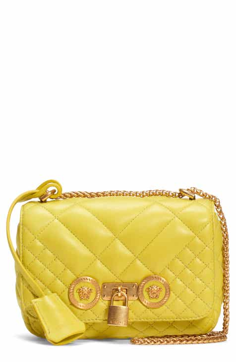 fe48e9fdff Versace Icon Quilted Leather Crossbody Bag
