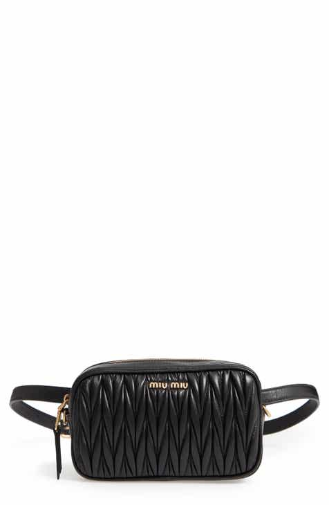 beae77432075 Miu Miu Rider Matelassé Leather Belt Bag