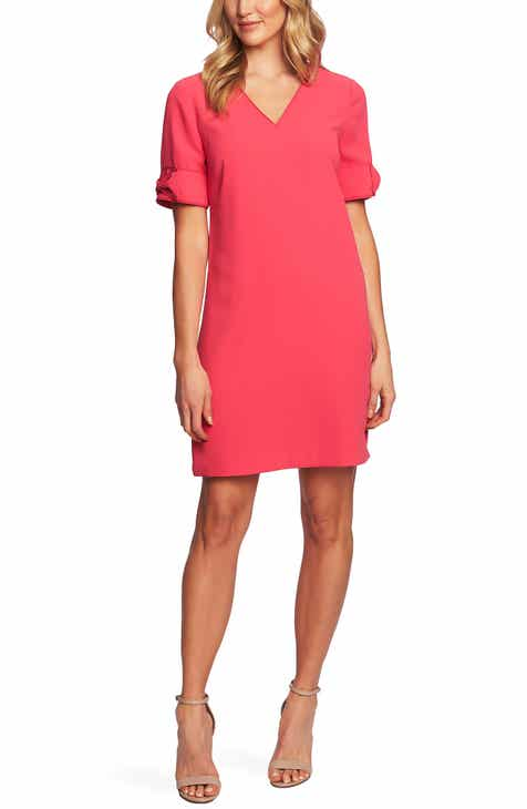 bcfd5ca8c5 CeCe Bow Trim Shift Dress