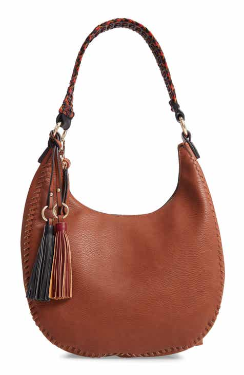 Sondra Roberts Braided Handle Faux Leather Hobo a0405bb03f68f