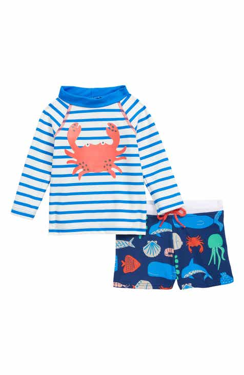 a2251aecc83 Mini Boden 2-Piece Rashguard Swim Set (Baby)