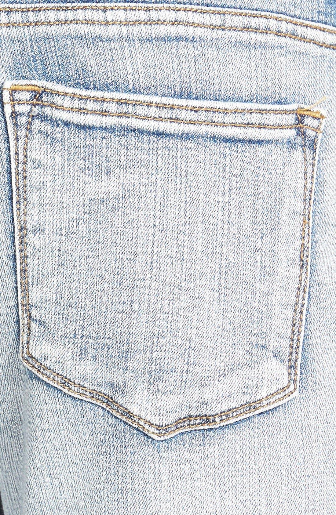 Alternate Image 3  - SP Black Destroyed Boyfriend Jeans (Medium)