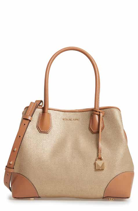 Michael Kors Medium Mercer Gallery Canvas Satchel