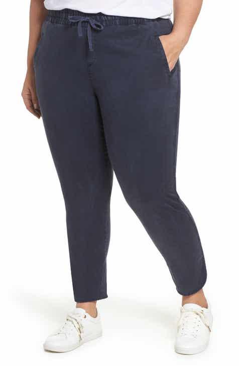 45ce54b706ced Caslon Sandwash Pull-On Pants (Plus Size)