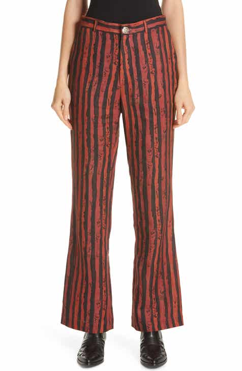 Martine Rose Flare Leg Linen Pants (Nordstrom Exclusive) by MARTINE ROSE