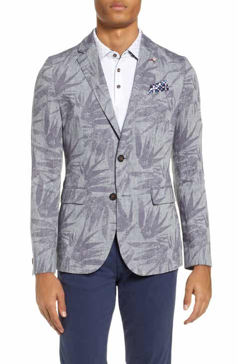 50d98b35a8e9 Ted Baker London Stepin Slim Fit Leaf Print Sport Coat