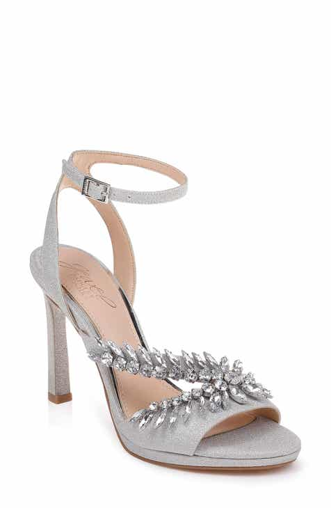 891eedf89b5 Jewel Badgley Mischka Kaira Crystal Embellished Ankle Strap Sandal (Women)