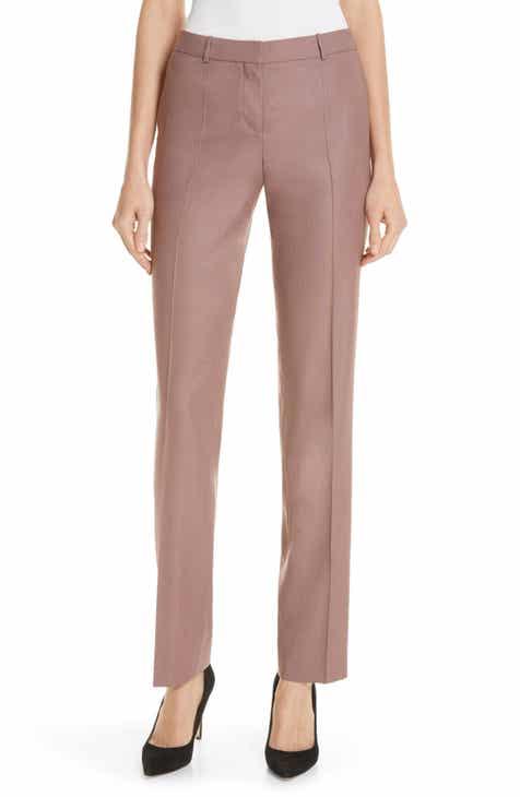 BOSS Tamea Straight Leg Wool Suit Trousers by BOSS HUGO BOSS