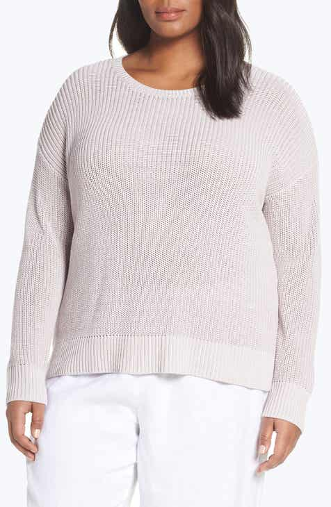 024f3ee0b1969 Eileen Fisher Organic Cotton Sweater (Plus Size)