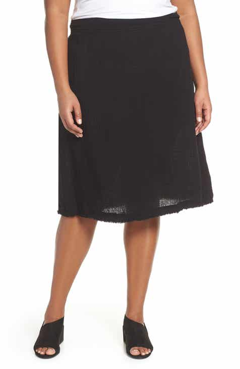 7ad83e4a0ce Eileen Fisher Organic Cotton A-Line Skirt (Plus Size)